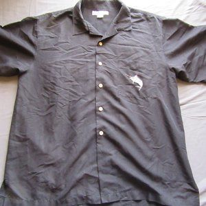 Mens Hook & Tackle Embroidered Fish Shirt Sz L